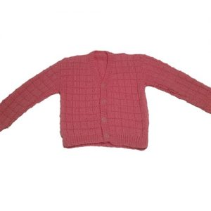 Long Sleeved Pink Patterned Cardigan