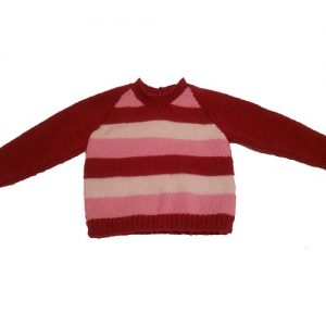 Pink, White and Red Striped Jumper
