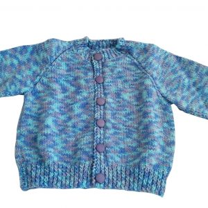Blue, Purple and Turquoise Cardigan